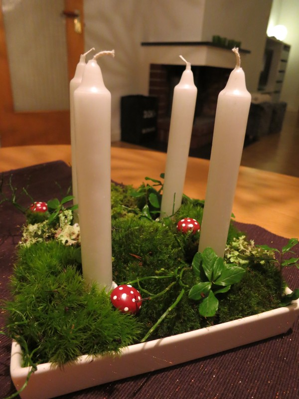 1 december – Pimpa din adventsljusstake